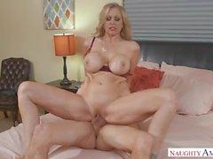 Mature MILF Julia Ann Hot Step Mom loves cocks inside her pussy