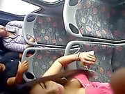 Sexy teen in the bus