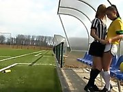 Brazilian player boning the referee