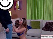 Melissa Moore takes a big cock and a load over her Face