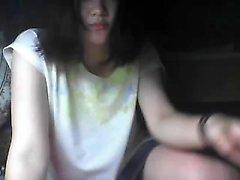 Horny asian teen sexy solo play