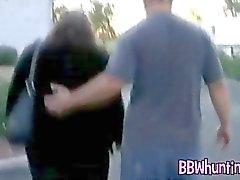 Amateur plumper in BBW porno shows her boobs