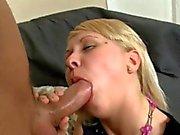 Horny guy pounds on beauty's juicy cunt vigorously