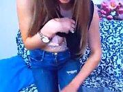 Stunning Beautiful Webcam Slut Stripping