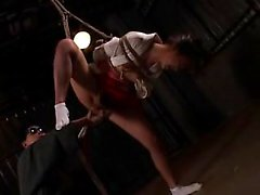 Sexy Asian teen is tied up and tortured by her sadistic mas