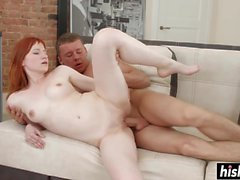 Redhead beauty shagged in various positions