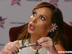 DP Star 3 - Big Tit Blonde Pornstar Britney Amber Deep Throat Blowjob
