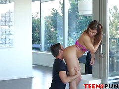 Handcuffed Keisha Grey gets face fucked and pounded hard