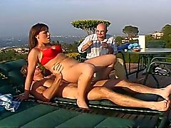 Cuckolding with young wife outdoors