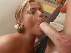 Cock sucker Mckenzie Miles deliciously takes a juicy man's pole in her mouth