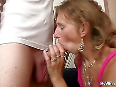 Old mother loves young dick