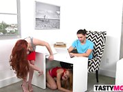 Stunning Stepmom Bangs Stepdaughter And Her BF