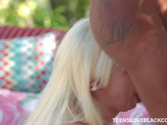 Blond teen Katerina Kay interracial sex