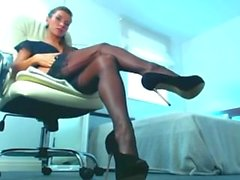 high heels and stockings sexy girl webcam