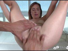Tiny4K - Kaylee Haze fucks monster cock
