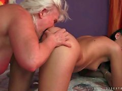 Grannies and Young Girls Sex Compilation