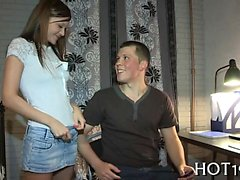 Very wicked and sexy teen gal pounded by stranger well