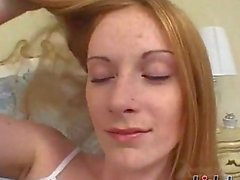 Allison Wyte is the ultimate redheadwith softpale skin and cute freckles