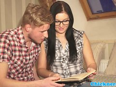 Amateur spex student fucked passionately