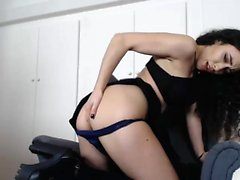 Kinky pee fetish young babe solo plays with big toys