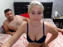 Small tit blonde fucked doggystyle POV