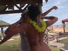 bikini booty shake contest at spring break south padre