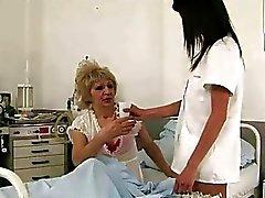 Cute teen nurse fucking a granny