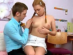 Awesome gal kneels, gives blow job