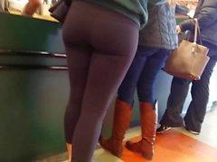 pretty girl in leggings