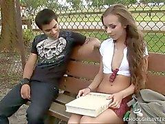 Sweet schoolgirl sophia sutran nasty internal cumshot