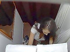 Czech Massage Room Intensive Sex with Teen Brunett