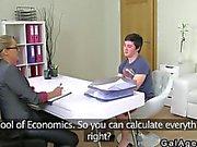 Female agent fucks an amateur student