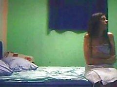 Amateur teen couple get caught on hidden cam !