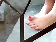 Mother & Teen Daughter Feet Caught For You to Compare Admire