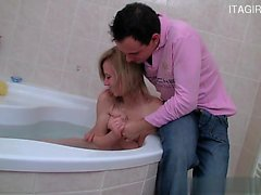 Horny daughter bound gangbang