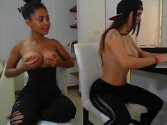 Ebony And White Chick Get Nasty Webcam