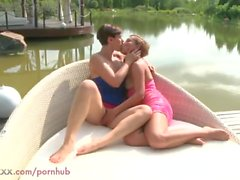 MOM Amazing Lesbian MILFs Eating Pussy Outdoors