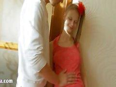 Busty russian teen having ass toyed