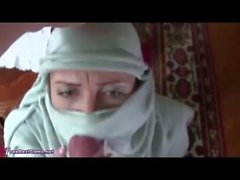 Real Arab In Hijab Rough Throatfucking Gagging Deepthroat To Facial Cumshot