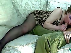 Fiery brunette milf seducing sweet big young cock in her pussy