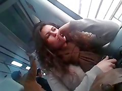 horny girl on train