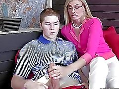 Sstepmom MILF gets penetrated by a boy