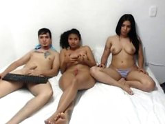 Latin Teen Hottie Threesome