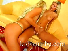 Allanis And Sandra hot blondes teen having fun in sex