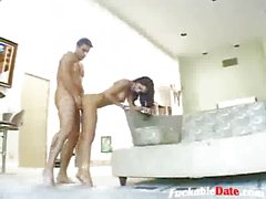 teen squirts and gets a facial