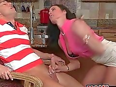 Milf Slurps a Young Cock in front of his Gf