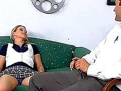Schoolgirls smack each other