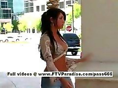 Christy nasty redhead slut walking down the street