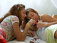 Insane russian lesbo pussy gag