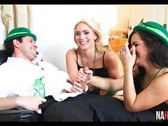 St. Patricks Day Threesome AJ Applegate, Keisha Grey